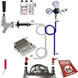 Kegco Ultimate Door Mount Home Brew Kegerator Conversion Kit Pin Lock No Tank - UCK-PLCP-NT