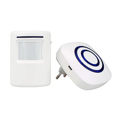 Tivdio T801 Inalámbrico Timbre de Alarma para la Puerta con Sensor de Movimiento PIR Infrarrojo Detector