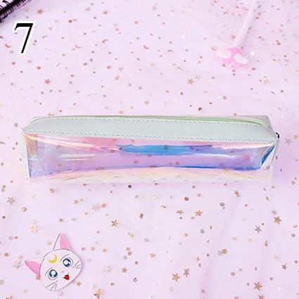 Estuche para lápices con purpurina, creativo, de PVC, transparente, para escuela, kawaii, para regalo de niñas, artículos de papelería, bailarina, escolar, color 7: Amazon.es: Oficina y papelería