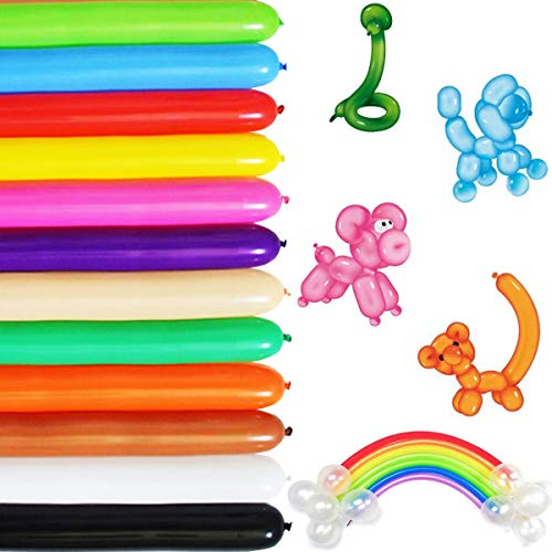 Long Balloons For Balloon Animals Twisting Balloons - 100pcs Balloon Animal Kit 260q Balloons Magic Balloons for Birthday Party Decorations (Balloons Twisting)