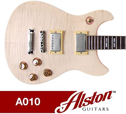 amazon com: alston guitars - diy electric guitar kit | set-in | solid  mahogany body neck flamed maple veneer: musical instruments