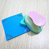 Fascola 1Pcs Embossing DIY Corner Paper Printing Card Cutter Scrapbook Shaper large Embossing device Hole Punch Kids Handmade Craft gift, Total 12 Design (Style 10)