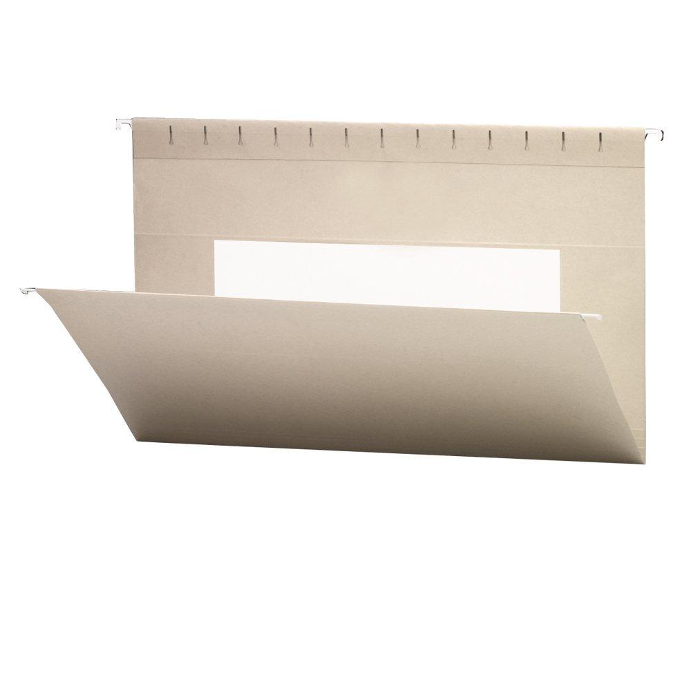 Smead 64475 Colored Hanging Folders with Interior Pocket, Legal, Aqua, 25 Per Box Smead CA