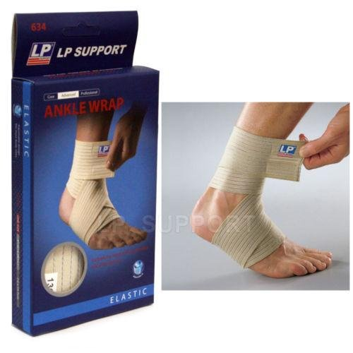 LP 634 Ankle Wrap Support Compression brace Elastic Bandage sprains protect gear ()