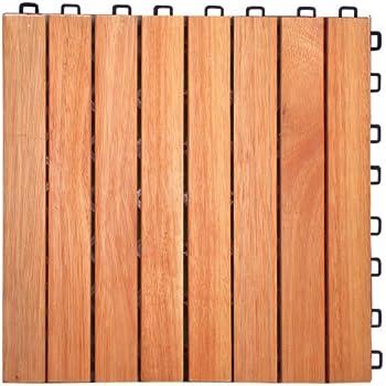 Amazoncom V375 Eucalyptus Hardwood 8 Straight Slat Design
