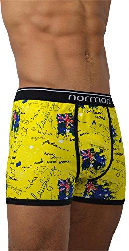4 x Herren Unterwäsche Boxershorts original normani® Exclusive Farbe Crazy Yellow Britannia Größe M