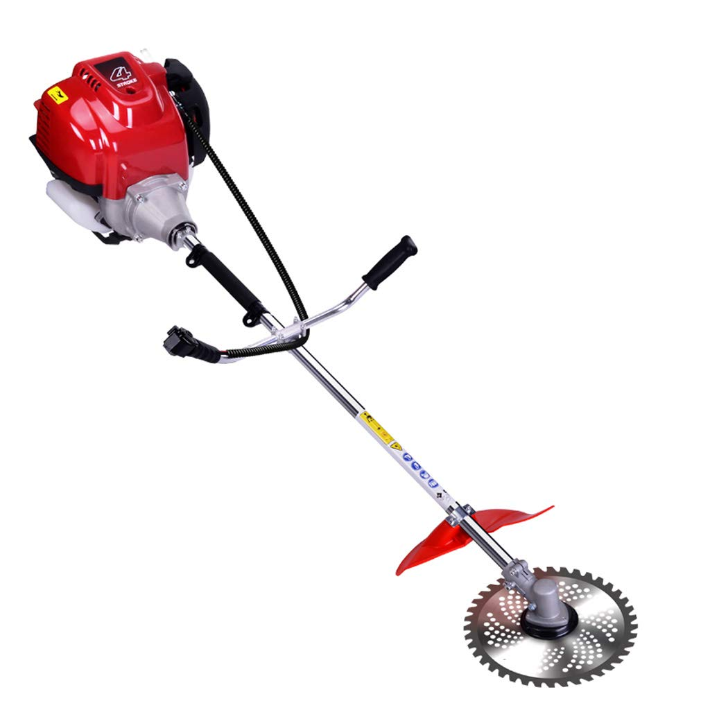 WHJ@ 1500w Petrol Mower Four-Stroke Backpack Type Multi-Function Small Agricultural Cutting Rice Grass Weeding Machine by ZM-Lawn mower