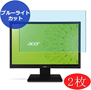 """【2 Pack】 Synvy Anti Blue Light Screen Protector Compatible with Acer V195WL 19"""" Display Monitor Screen Film Protective Protectors [Not Tempered Glass]"""