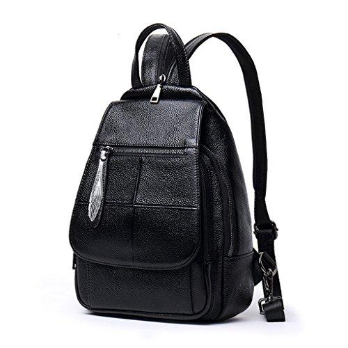 cuir élégant Sac tendance sac mode main tendance à sac à sauvage Simple en cuir QI en des Mini dos dos femmes et marée dames en Noir cuir sac Blanc souple Couleur à dos DEI à multifonctionnel f1Sxqv5n