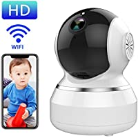 WONNIE Wireless Camera for Home, Full HD 1080P IP Camera Pan/Tilt/Zoom Security Surveillance System with Night Vision, Remote Monitor with iOS, Android App - Smart Alarm & Two Way Audio (White)
