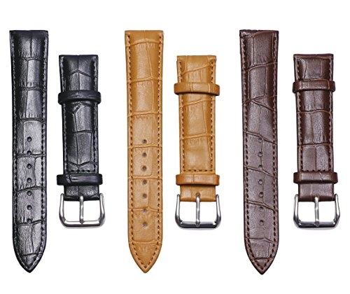 Tupalizy 3 Colors Quick Release Leather Watch Band Strap Top Calf Grain Vintage Watch Belt Wristband Replacement for Men and...