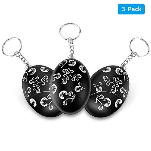 Personal Alarm, Zebre 3Pack 120 DB SOS Emergency Safety keychain, Purse Bag Key Chain, Suitable for Men, Women, Kids, Students( Battery Included )