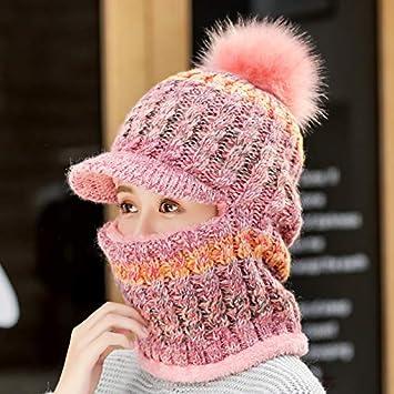 MAOCAP Sombrero Femenino Invierno Salvaje Dulce Lindo más Terciopelo  Orejeras cálido Sombrero Ciclismo frío un Sombrero de Punto dc404d6a605