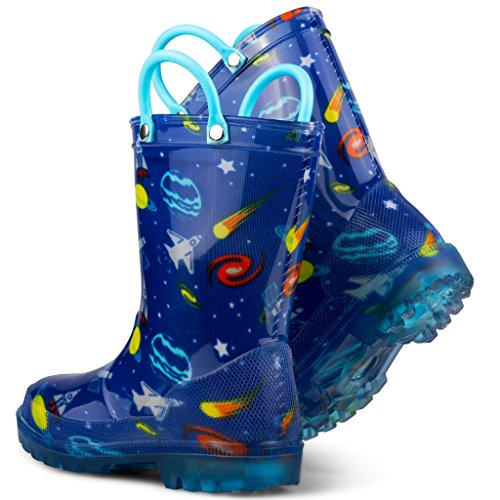 Chillipop Light Up Rainboots For Boys, Girls & Toddlers With Fun Kid Prints With 5 Lights by Chillipop (Image #5)