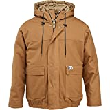 Wolverine Men's Flame Resistant Hooded Work Jacket, Brown, XX-Large