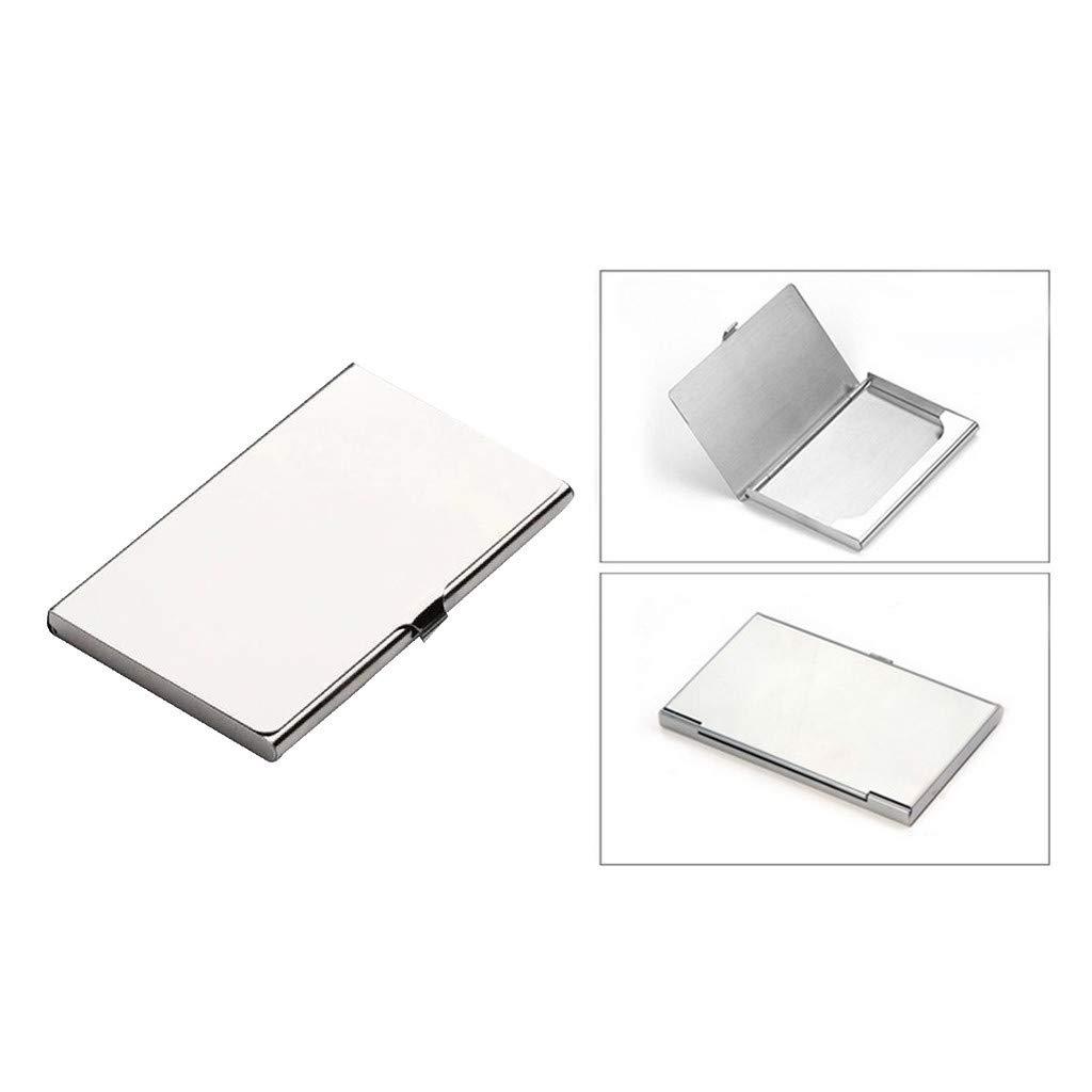 Wffo Men Women Creative Aluminum Holder Metal Box Cover Credit Business Card Wallet ♚♚Made of Stainless Steel,Lightweight. Elegant Design.