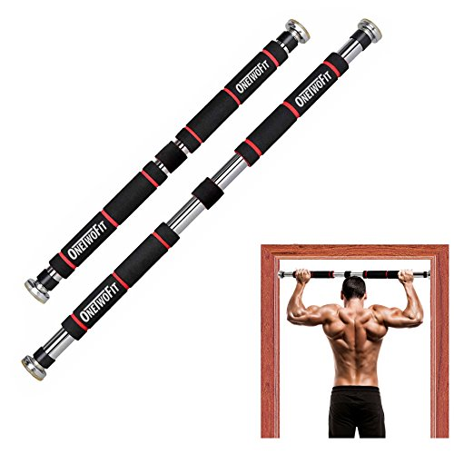 OneTwoFit Doorway Pull Up Bar Chin Up Bar for Home Gym Strength Trainning Upper Body Workout Exercise Bodybuilding Fitness