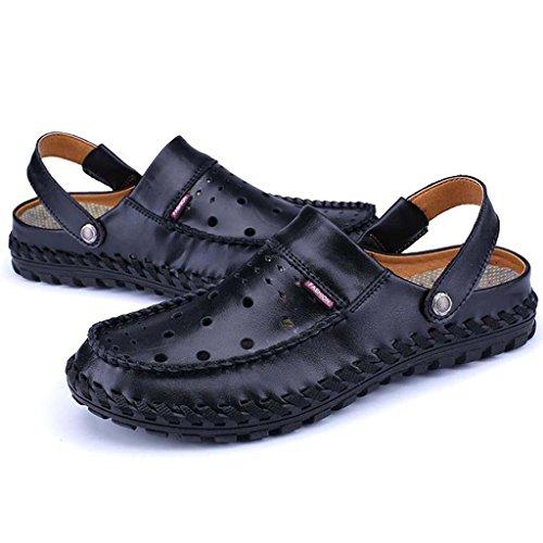 ZXCV Zapatos al aire libre Sandalias transpirables cómodas de moda de los zapatos ocasionales de los hombres Negro