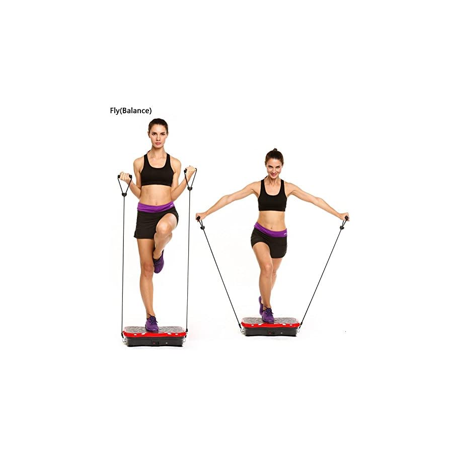 (LA Stock)Fitness Vibration Platform Whole Body Vibration Platform Machine Power Plate LCD display USB speaker