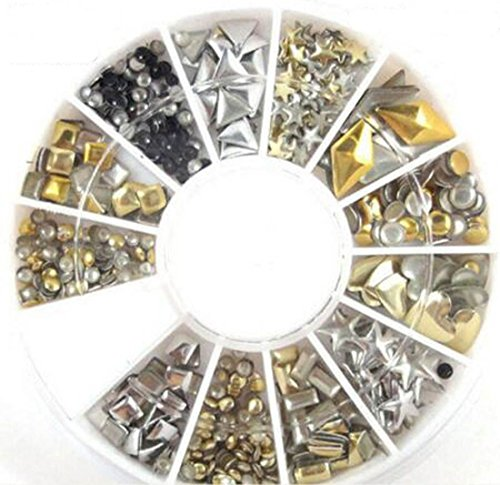 1 Set Essential Popular 3D Acrylic Rhinestone Nail Art Wheels Salon Supplies DIY Tips Colorful Decor Pattern Style - And Gabbana Dulce