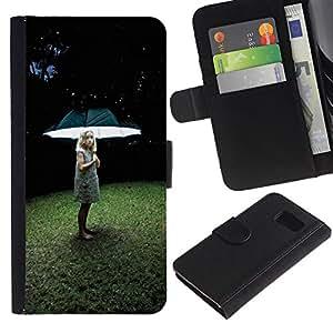 Buen accesorio de teléfono // Funda de piel tipo cartera tarjeta Monedero para Sony Xperia Z3 Compact // Luz chica profundo hierba verano