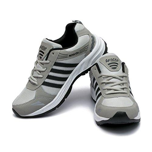 51oJ OxEfiL. SS500  - ASIAN Wonder-13 Grey Black Running Shoes for Men