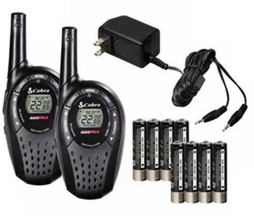 COBRA CXT235 MicroTalk 20 Mile FRS/GMRS Walkie Talkie 2-Way Radios + 2 Headsets