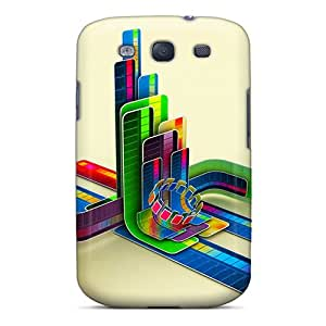 Rugged Skin Case Cover For Galaxy S3- Eco-friendly Packaging(3d Digital Art)