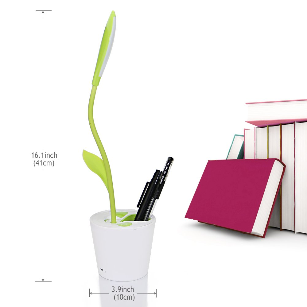 Amazon.com: IEGrow Flexible USB Touch LED Desk Lamp With 3 Level Dimmer And  Decor Plant Pencil Holder(Green): Home U0026 Kitchen