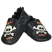 Harley-Davidson Baby Boy Pre-Walker Shoes Slip-On - Crib Shoes (2/3M (6-9Months))