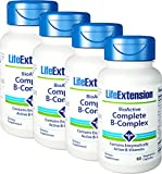 Life Extension BioActive Complete B Complex The Most Complete B Complex Formula 60 Vegetarian Capsules 4-Pak