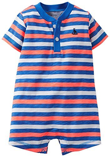 3f998c3f5b74 Amazon.com   Carter s Baby Boys  Striped Romper (Baby) - Red White ...