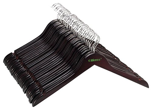 Ollieroo Wooden Notches Clothes Hangers