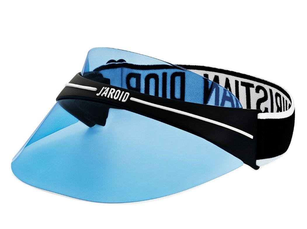 Luxury High End France Club1 Visor Transparent Logo branding elastic strap sunglass EYEWEAR blue