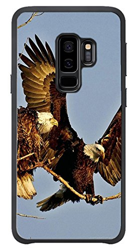VUTTOO Case for Samsung Galaxy S9 Plus Only - Two Bald Eagles Case - Shock Absorption Protection Phone Cover Case