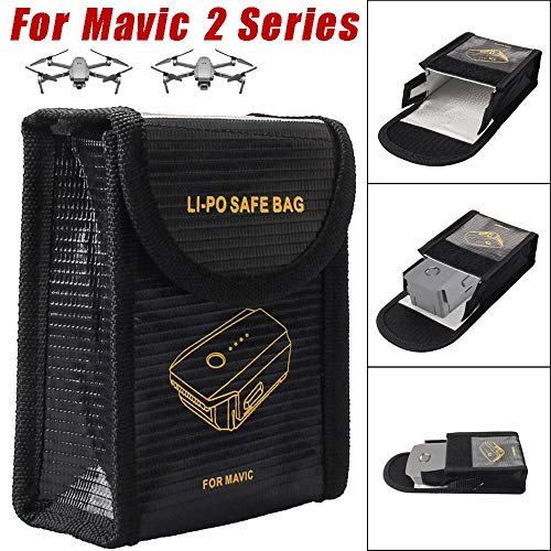 Iusun Explosion-proof Bag For DJI Mavic 2, 1PC LI-PO Explosion-proof Fireproof Guard Safe Bag Cover Bags For DJI Mavic 2 Series (Black)
