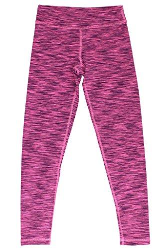 Cropped Bubble Jacket (90 Degree by Reflex - Kids Space Dye Yoga Pants - Junior Leggings - Bubblegum Space Dye Medium)