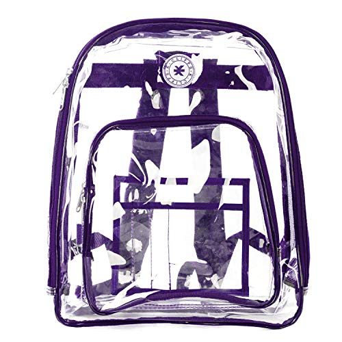 Heavy Duty Clear Backpack Durable See Through Student School Bookbag Quality Transparent Workbag Easy Stadium Security Check Bag Daypack -