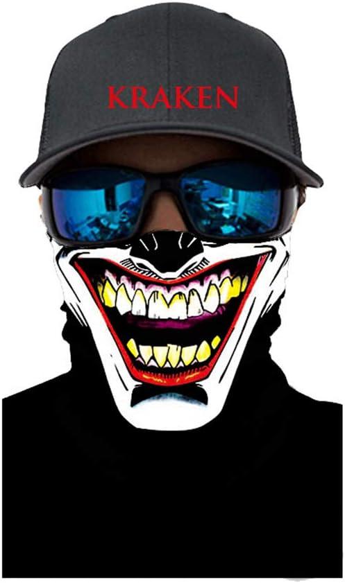 color negro para mujeres y hombres protecci/ón UV reutilizable 3 capas Withmoons TPZA93095 Bandana de algod/ón para la cara a prueba de polvo lavable