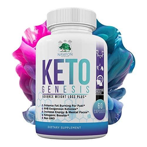Keto Genesis - Ketogenic Diet Pills - Burn Fat Fast - Boost Energy and Metabolism - Ketosis Supplement for Women & Men - Beta-Hydroxybutyrate (BHB) Exogenous Ketones Salts - Weight Loss