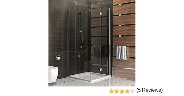 Mampara de cristal funshirt entrada por la esquina cabina de ducha ...
