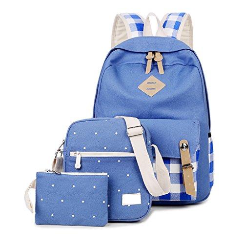 JESBOOW - Bolso estilo cartera para mujer M Azul