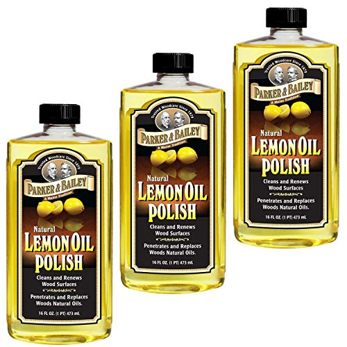 Parker & Bailey Natural Lemon Oil Polish 16oz - Pack of 3 (Stool Bailey)