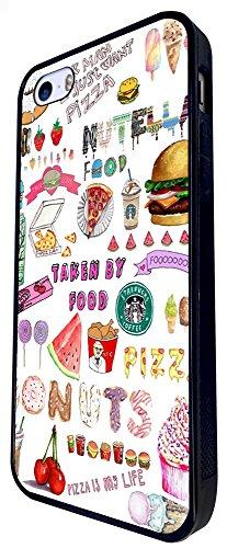 943 - Cool Cute Fun Doodle School Sketch Illustration Food Trend Donut Unicorn Junk Food Burger Ice Cream Design iphone SE - 2016 Coque Fashion Trend Case Coque Protection Cover plastique et métal - N