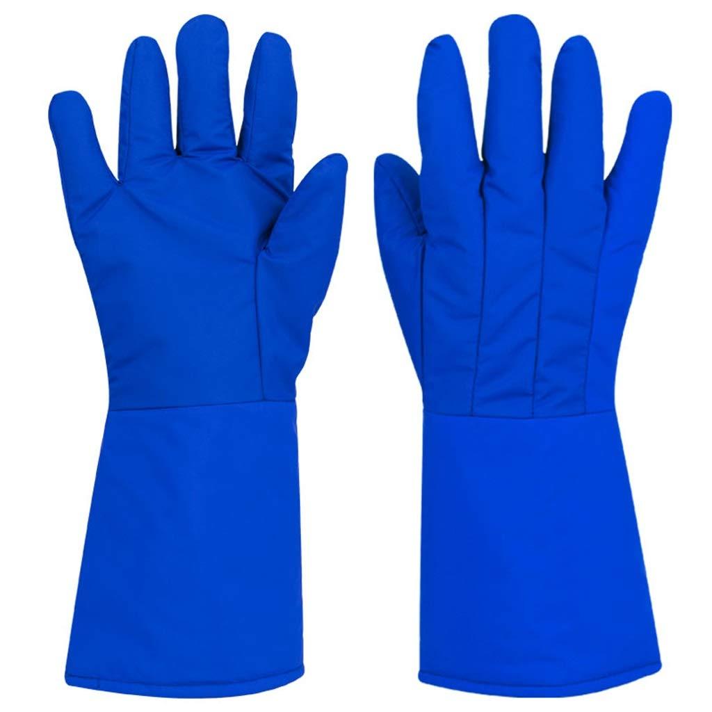 LZRZBH Welders Gloves High Temperature Stove Gloves Heat Resistant Fire Gloves Gardening Gauntlet Gloves Antifreeze Nitrogen Cold Storage Work Gloves 39cm