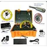 KOHSTAR 40m cable portable handheld sewer drain rigid pipeline inspection camera with 512hz sonde and meter counter function