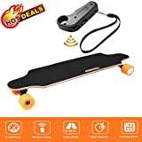 Aceshin Electric Skateboard with Remote Control for Adults Teens Youths 250W Dual Motor 20KM/H Top Speed 10 KM Range Longboard 7 Layers Maple Waterproof IP54 E-Skateboard