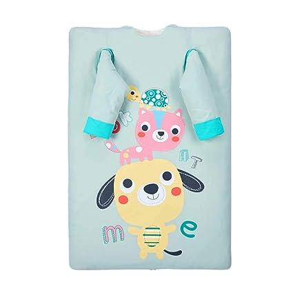 Saco de dormir para bebés, edredón Algodón de doble uso Dos bolsas de cama Mantener