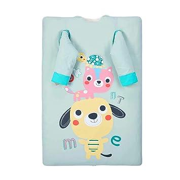 Saco de dormir para bebés, edredón Algodón de doble uso Dos bolsas de cama Mantener el ...