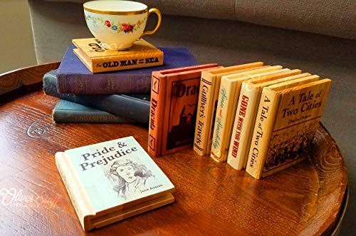 Solid Wood Book Coaster (real title)